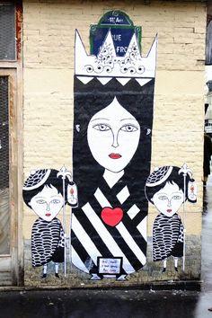 Paris 11 - quartier de la Roquette - rue Léon Frot -street art - Fred le chevalier