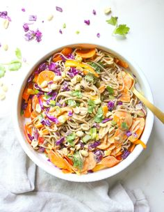 Noodle & Veggie Salad with Spicy Peanut Dressing