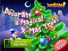 FREE Elfishki iPad App - 24 Interactive Magical items to decorate your own tree with!