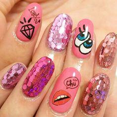 milfynail✨ #nail #nails #nailart #gel #gelnail #gelnails #nailstagram #instanail #instanails #fukuoka #japan #love #cute #happy #playnomore #네일 #젤네일 #네일아트 #美