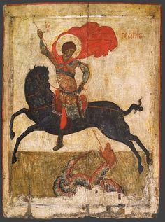 Чудо Георгия о змие; Россия. Великий Новгород; XV в