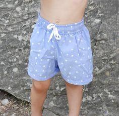 Little Boy Shorts PDF Pattern ,Swim Trunks Pattern,Boys Swim Trunks,Toddler Shorts PDF Pattern,Boys Swimsuit PDF Pattern