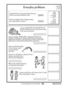 Direct And Inverse Proportion Worksheets Ordering Sets Of Decimals  Worksheets  Pinterest  Math  Free Algebra Worksheet with Printable Abc Worksheets Pdf Th Grade Th Grade Math Worksheets Everyday Problems With Decimals Perimeter Of A Square Worksheets