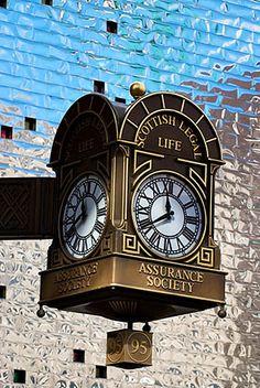 Scottish Legal Life Clock, Glasgow, Scotland