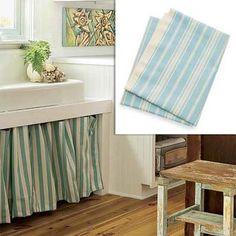 aqua striped fabric