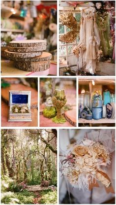 forest wedding inspiration board #nature