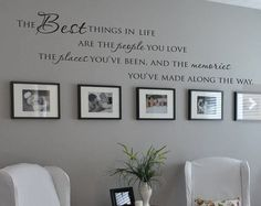 """ The Best Things In Life People Places "" Quote Vinyl Wall Decal Sticker-in Wall Stickers from Home & Garden on Aliexpress.com"