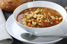 Minestrone soep stock