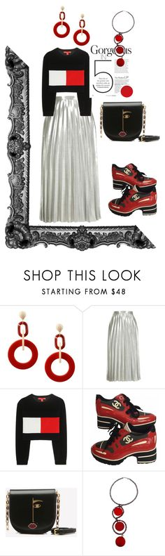 """""""Untitled #185"""" by elatralala ❤ liked on Polyvore featuring Dettagli, Topshop, Tommy Hilfiger, Chanel and Lulu Guinness"""