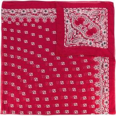 Saint Laurent bandana print scarf (50.680 RUB) ❤ liked on Polyvore featuring accessories, scarves, red, silk shawl, red silk scarves, red scarves, yves saint laurent and red shawl