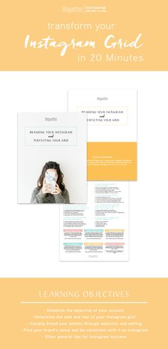 If you have a free 20 minutes, you have time to learn all about branding your Instagram and perfecting your grid.  This class will provide you with the tools you need to get your Insta game on the right track!