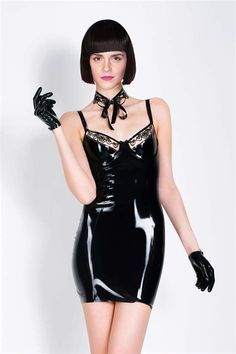 Black latex dress with appliqué work by Très Bonjour Berlin. Visit our web shop with sexy fetish couture and fine lingerie. Ready to wear and made to order. Emma Watson See Through, Emma Watson Hot, Ema Watson, Girl Outfits, Fashion Outfits, Latex Dress, Sexy Latex, Lingerie, Latex Fashion