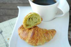 Green tea croissants