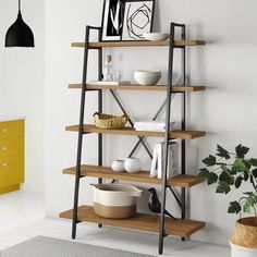 Give Your Rooms Some Spark With These Easy Vintage Industrial Furniture and Design Tips Do you love vintage industrial design and wish that you could turn your home-decorating visions into gorgeous reality? Cube Bookcase, Etagere Bookcase, Ladder Bookcase, Bookshelf Plans, Wood Shelves, Shelving, Industrial Design Furniture, Industrial Style, Home Design Diy