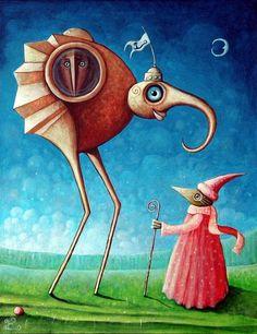 leszek kostuj art | Woodman and Elerion by Leszek Kostuj