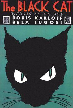 'The Black Cat', original poster, 1934.