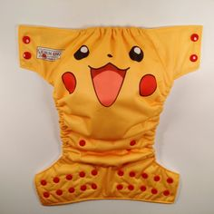 Pikachu Inspired O/S Pocket Cloth Diaper by bumenvy on Etsy