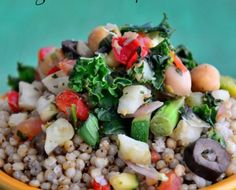 sorghum chickpea bowl & 10 gut detoxifying foods
