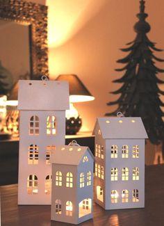 Zinkhaus weiß Teelichthaus Metall shabby Vintage Landhaus Teelichthäuschen neu