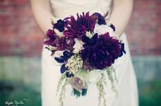 fall wedding bouquets with purple | 21 Wedding Bouquets Perfect for Fall | OneWed