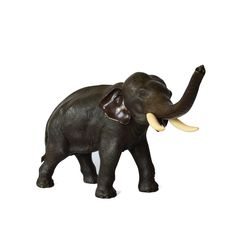 JAPANESE BRONZE FIGURE OF AN ELEPHANT. Just Japanese antiques are based in Chichester, England.