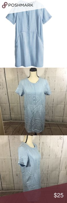 H&M Chambray Dress with Gold Ziper on The Back EUC. NO RIPS OR STAINS H&M Dresses Midi