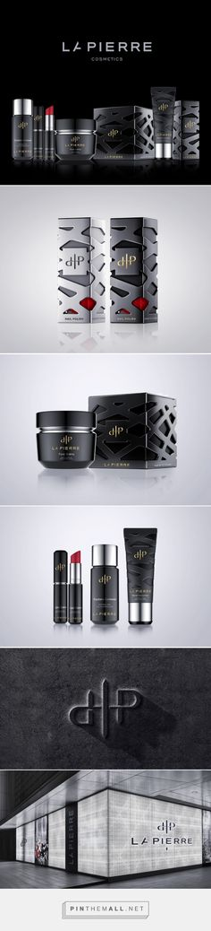 LaPierre cosmetics by Reynolds & Reyner. Source: Packaging of the World. Pin curated by #SFields99 #packaging #design #structural