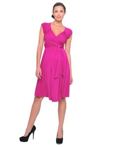 543d8ce2649e3 Pink Criss Cross Front Dress #maternity #fashion #pregnancy #style  #minefornine #