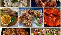 Przepisy na grilla! Dania z rusztu, sałatki i dodatki do grilla! Tandoori Chicken, Chicken Wings, Catering, Grilling, Salads, Bbq, Food And Drink, Menu, Vegan