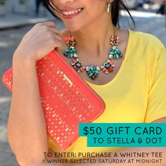 Be entered to win a $50 Stella & Dot gift card when you purchase a Whitney Tee through Sat. June 21!