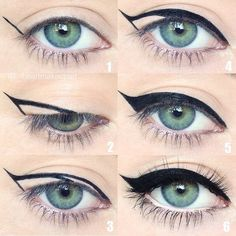 Winged eyeliner is a whole lot easier with this trick. To get the perfect flick … Winged eyeliner is a whole lot easier with this trick. To get the perfect flick in Step hold your eyeliner… Eyeliner Hacks, How To Apply Eyeliner, Easy Eyeliner, Eyeliner Flick, Eyeliner Application, Perfect Eyeliner, Eyeliner Makeup, Face Makeup, Makeup Eyes