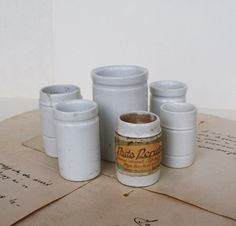Antique Laboratory Apothecary Porcelain Ceramic Cups  by artsob, $34.00