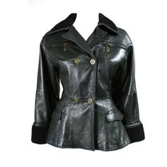 1990's Versace Double-Breasted Leather Jacket  http://www.1stdibs.com/fashion/clothing/coats-outerwear/1990s-versace-double-breasted-leather-jacket/id-v_94828/