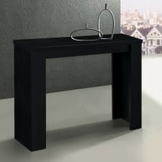 Table console extensible noire 3 rallonges SIMPLY Table Console Extensible, Console Table, Consoles, Broadway, Deco Design, Entryway Tables, Sweet Home, Furniture, Home Decor