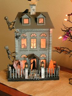 One of my Halloween glitter houses