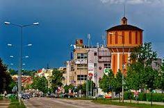 Widok na ul.Górnośląską z Galerią Wieża Ciśnień