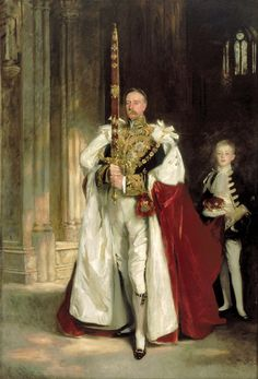 John Singer Sargent - Charles Stewart Sixth Marquess of Londonderry Carrying the Great Sword of State at the Coronation of King Edward VII August 1902 and Mr. Beaumont His Page on That Occasion John Singer Sargent, Sargent Art, Charles Vane, Londonderry, Papua Nova Guiné, Trinidad E Tobago, Great Sword, Beaux Arts Paris, King Edward Vii