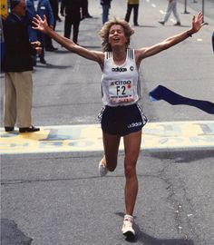 The Boston Marathon finish line is one of the most dramatic spots in sports each year.