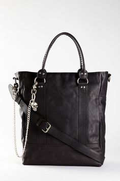 John Varvatos Leather Tote.    I'm pretty sure this is supposed to be a murse, not a purse. But idec, I'd wear the heck out of it.