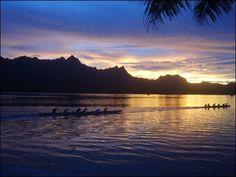 SleepingLady island sunset (Kosrae)