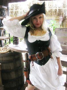 SUMMERS END SALE 3 Inch Leather Pirate Belt by Dredmorsplunder