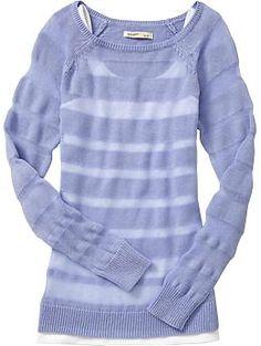 Women's Pointelle-Striped Sweaters