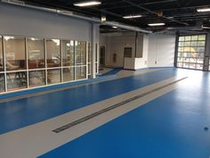 Stonhard's high performance, seamless floors are ideal for various transportation environments, including ports, hangers, stations and repair facilities