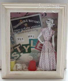Dimestore Vogue shadow box
