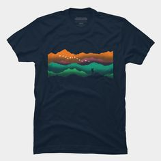 d2b358bf colorful mountain T-Shirt Colorful Mountains, Mountain Designs, Cool T  Shirts, Shirt