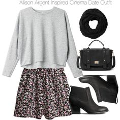 Teen Wolf - Lydia Martin Inspired Cinema Date Outfit by staystronng on Polyvore featuring polyvore, fashion, style, Monki, H&M, Sole Society, Subtle Luxury, date, TeenWolf, LydiaMartin, tw and cinema