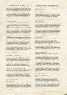 DnD 5e Homebrew — Stronghold & Sentinels by Coolgamertagbro /...