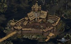 ArtStation - Thronebreaker - The Witcher Tales - Environments, Architecture And Props, Yusuf Artun Fantasy City Map, Fantasy Town, Fantasy Castle, Medieval World, Medieval Castle, Medieval Fortress, Buildings Artwork, Isometric Map, Architecture Mapping