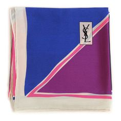 Christian Bounaix - Luxe Scarves From YSL, Dior & More:YSL Geometric Silk Scarf, now featured on Fab.