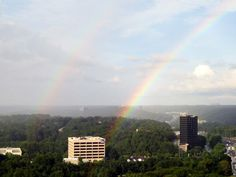 Double rainbow over The Weather Channel HQ's in Atlanta